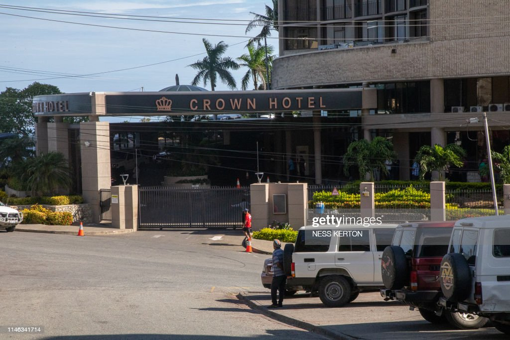 A View Outside Of The Crown Hotel Where Papua New Guinea Prime News Photo Getty Images
