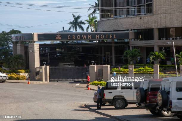 A view outside of the Crown hotel where Papua New Guinea Prime Minister O'Neill and his cabinet have been for the past few weeks in Port Moresby on...