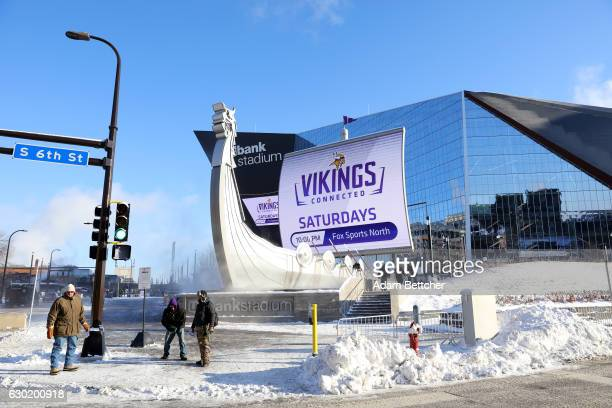 A view outside of US Bank Stadium before Minnesota Vikings play the Indianapolis Colts on December 18 2016 at in Minneapolis Minnesota The...
