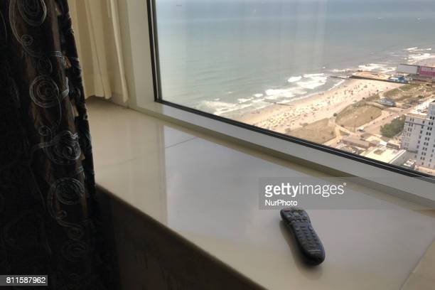 View outside one of the 1250 rooms during a large scale liquidation sale at the former Trump Taj Mahal Casino and resort in Atlantic City on July 8...