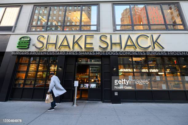 View outside Shake Shack during the coronavirus pandemic on April 20, 2020 in New York City. COVID-19 has spread to most countries around the world,...