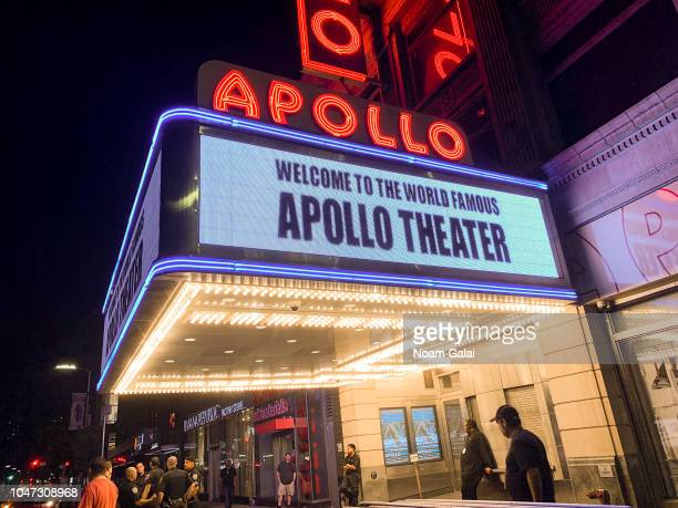 A view outside The Apollo Theater on October 7 2018 in New York City