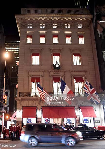 A view outside the Cartier Fifth Avenue Grand Reopening Event at the Cartier Mansion on September 7 2016 in New York City