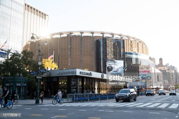 A view outside the Madison Square Garden as the city continues Phase 4 of reopening following restrictions imposed to slow the spread of coronavirus...