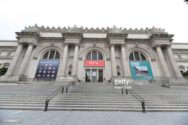 A view outside The Metropolitan Museum of Art during the Coronavirus pandemic on March 31 2020 in New York City President Trump has extended the...