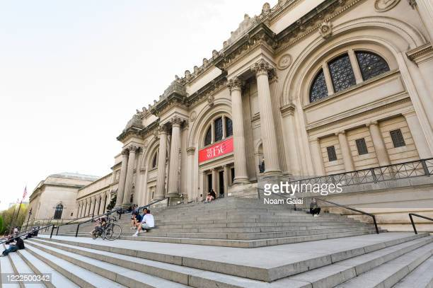 A view outside The Metropolitan Museum of Art during the coronavirus pandemic on May 2 2020 in New York City COVID19 has spread to most countries...