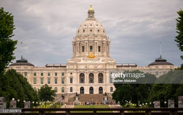 View outside the Minnesota State Capitol building on June 20, 2020 in Minneapolis, Minnesota. Minnesota lawmakers were called to a special session by...