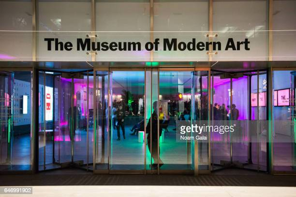 View outside The Museum of Modern Art on March 1, 2017 in New York City.