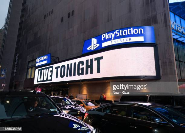 A view outside the PlayStation Theater on March 10 2019 in New York City