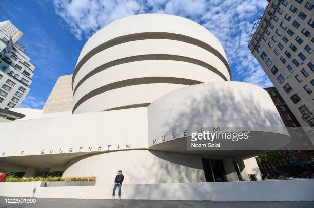 View outside the Solomon R. Guggenheim Museum during the coronavirus pandemic on May 2, 2020 in New York City. COVID-19 has spread to most countries...