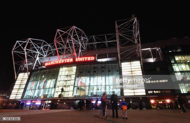A view outside the stadiun before the The Emirates FA Cup Third Round match between Manchester United and Derby County at Old Trafford on January 5...