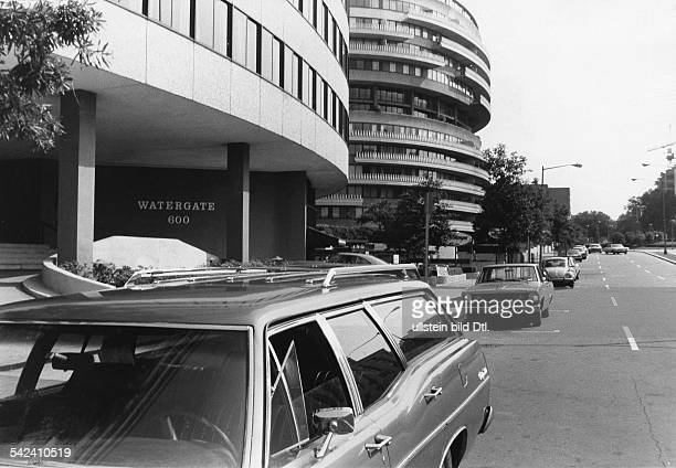 WATERGATE COMPLEX 1973 View outside the Watergate Complex on New Hapshire Avenue Northwest Washington DC Photographed in July 1973
