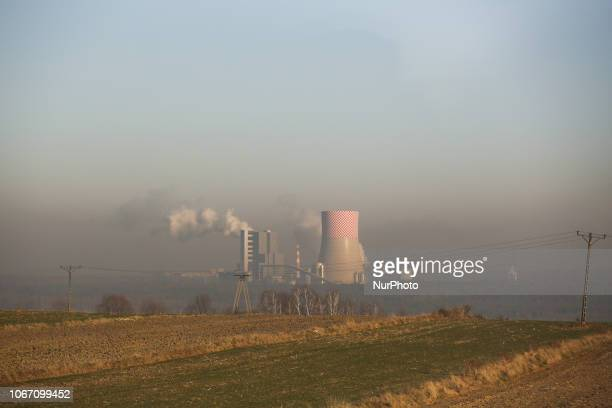 A view over a new 910MW hard coalfired unit which is being developed at the Jaworzno III power plant in Jaworzno Silesia Poland on 30 November 2018