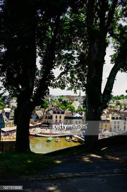 View over Auray Harbor, Brittany, France.