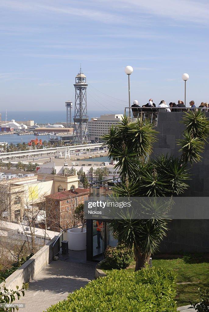 Vista de Barcelona.  Cataluña.  España : Foto de stock
