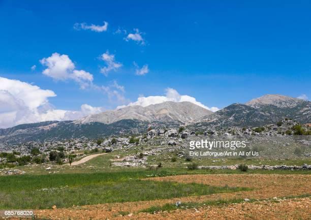 View over Bekaa valley South Governorate Jezzine Lebanon on May 2 2017 in Jezzine Lebanon