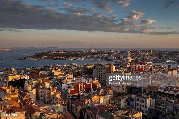 View over Beyoglu to Galata Tower & Sultanahmet