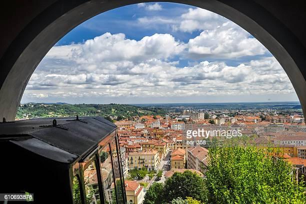 view over biella - ビエラ ストックフォトと画像