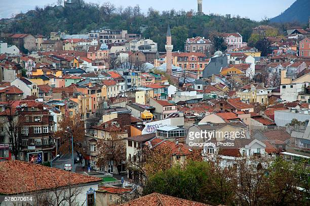 View over buildings in the historic center of Plovdiv Bulgaria eastern Europe