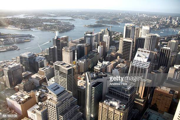 View over Central Business District, Sydney.