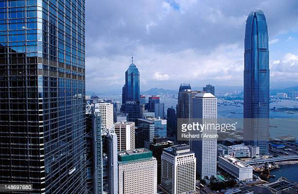 View over Central to the Two International Finance Centre from Bank of China tower.