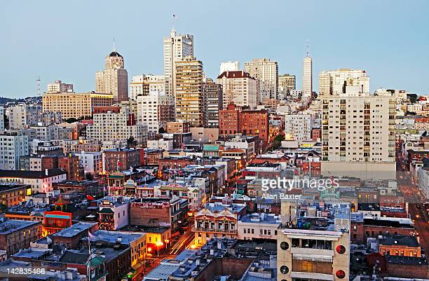 View over China town and Russian Hill