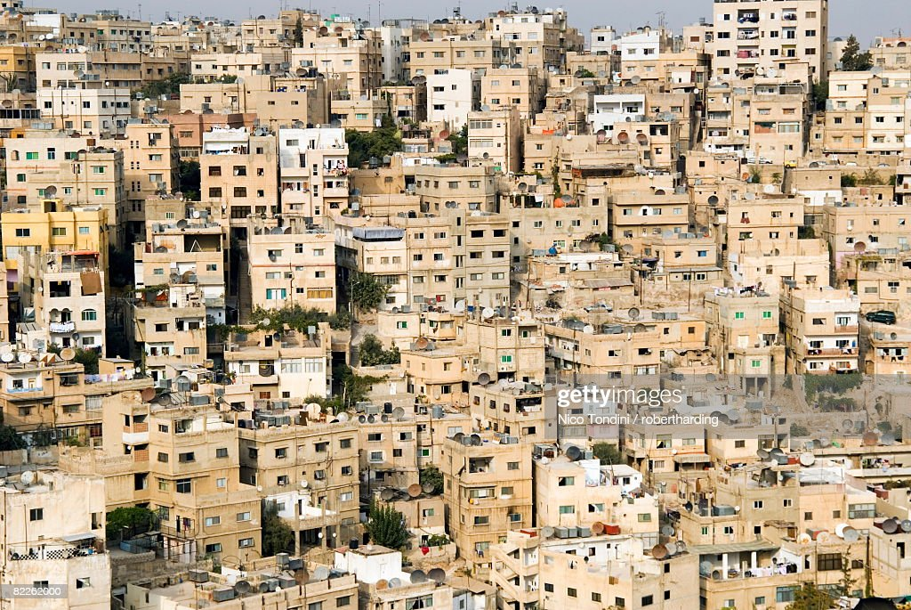 View over city, Amman, Jordan, Middle East : Stock Photo