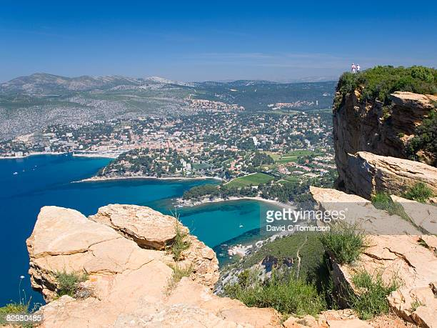 View over coast from Cap Canaille, Cassis, France