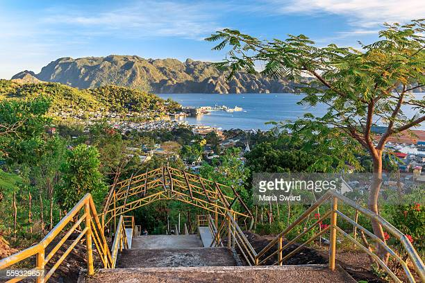 View over Coron town, Busuanga island, Philippines