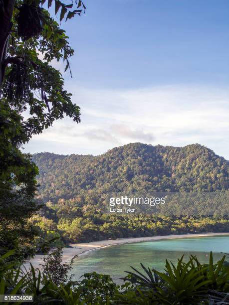 View over Datai Bay from the Andaman Resort a Luxury Collection resort The first place to rise from the ocean during the Cambrian Period Langkawi is...