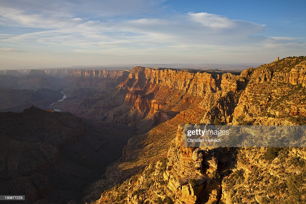 View Over Desert View Watchtower Grand Canyon National Park South