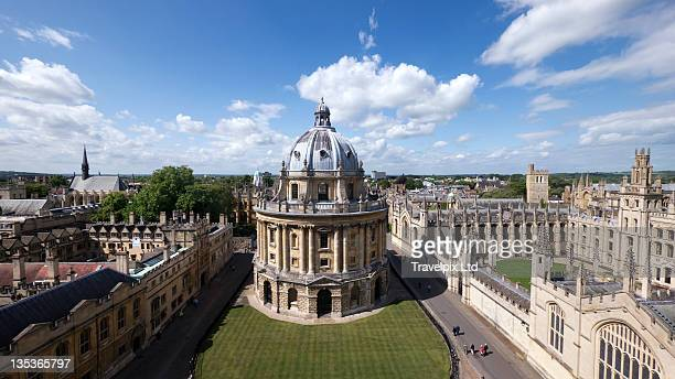 view over dome and spires, oxford - oxford university stock pictures, royalty-free photos & images