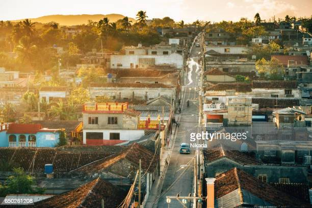 view over Gibara city in Holguin province in Cuba