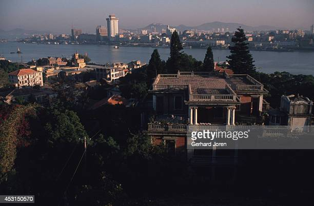 A view over Gulangyu an island with a population of about 20000 The city of Xiamen can be seen across the Taiwan Strait Gulangyu is famous for its...