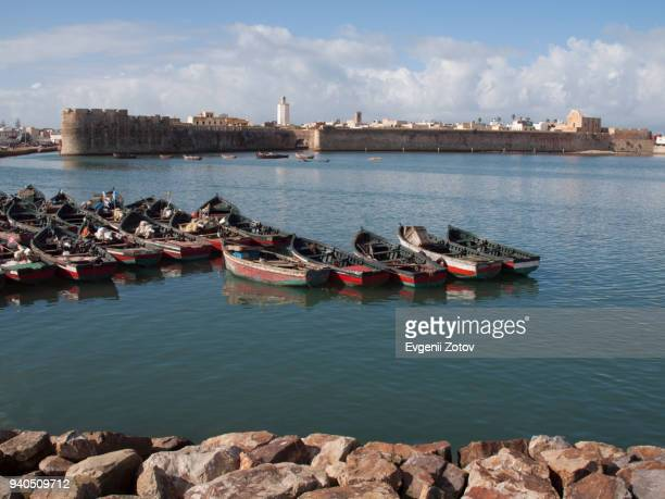 View over harbor on Portuguese Fortress of Mazagan in El Jadida, Morocco