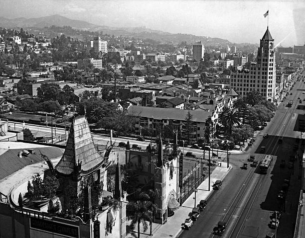 A view over Hollywood Boulevard and Grauman's Chinese...