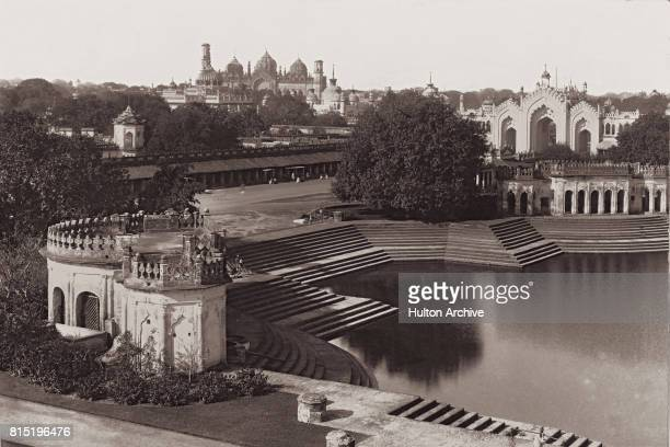 A view over Husainabad from the Husainabad Clock Tower Lucknow India circa 1865 In the background is the Bara Imambara complex and on on the the...