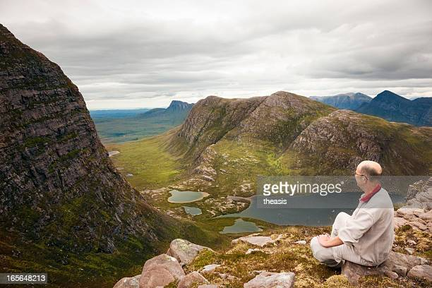 view over inverpolly - theasis stock pictures, royalty-free photos & images