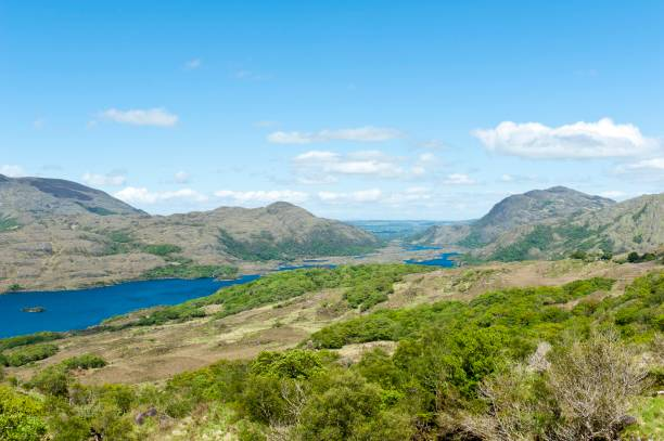 View over Killarney National Park from Lady's View, Lake Upper Lake, Ring of Kerry, County Kerry, Ireland