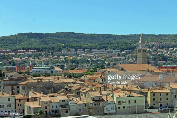 view over koper - koper stock photos and pictures