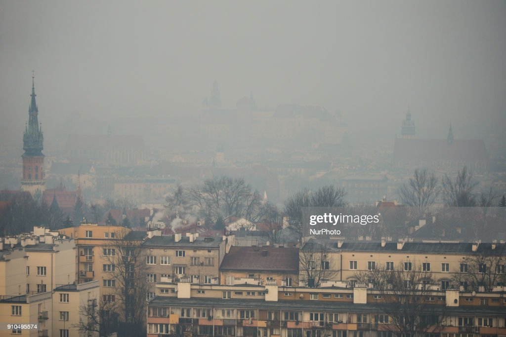 Smog standards exceeded many times in Krakow : News Photo