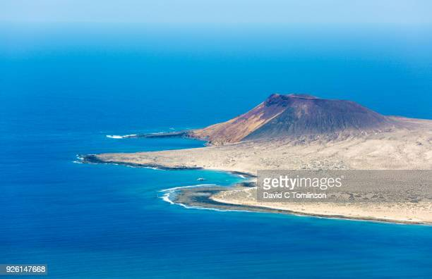 View over La Graciosa from the Mirador del Río, Yé, Lanzarote, Canary Islands, Spain