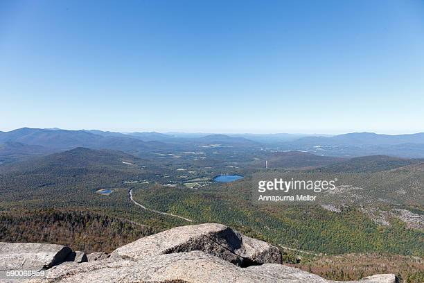 A view over lake Placid and the Adirondacks