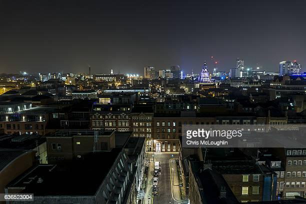 View over Leeds City, West Yorkshire, UK