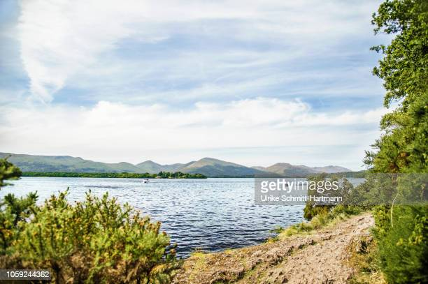 view over loch lomond - riverbank - fotografias e filmes do acervo