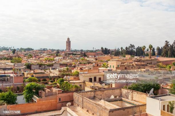 view over marrakesh, morocco - marrakesh stock pictures, royalty-free photos & images