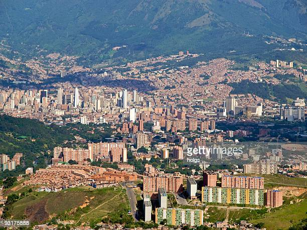 View over Medellin Capital of Antioquia in Colombia