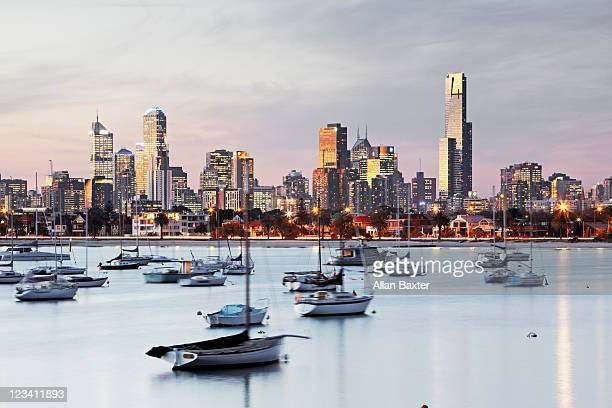 View over Melbourne at dusk