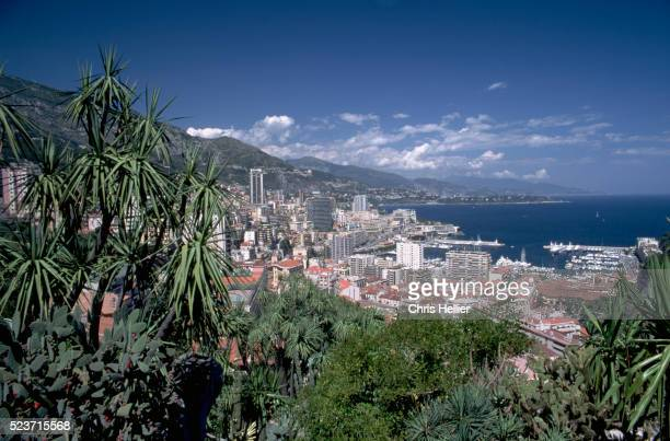 view over monte carlo - monte carlo stock pictures, royalty-free photos & images