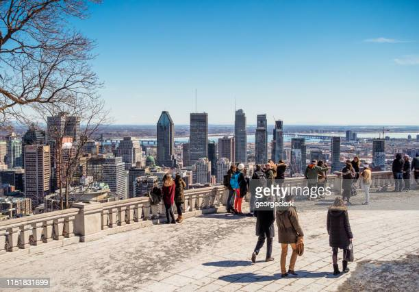 view over montreal, canada - montréal stock pictures, royalty-free photos & images